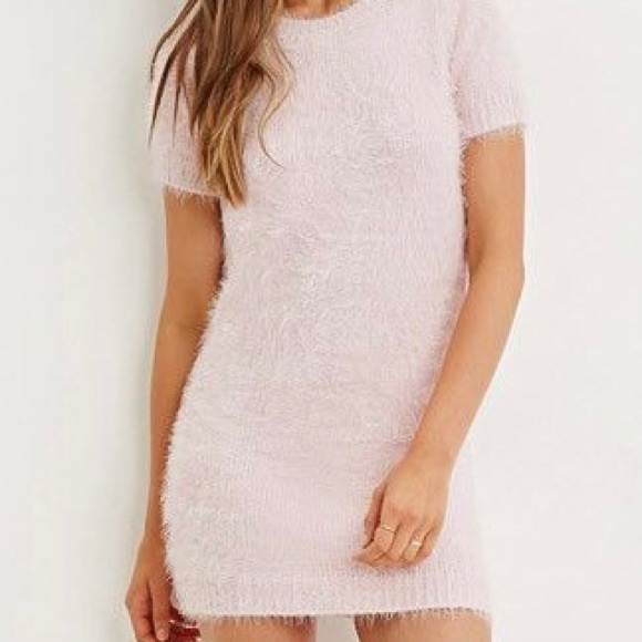 Forever 21 Fuzzy Sweater Dress - Small